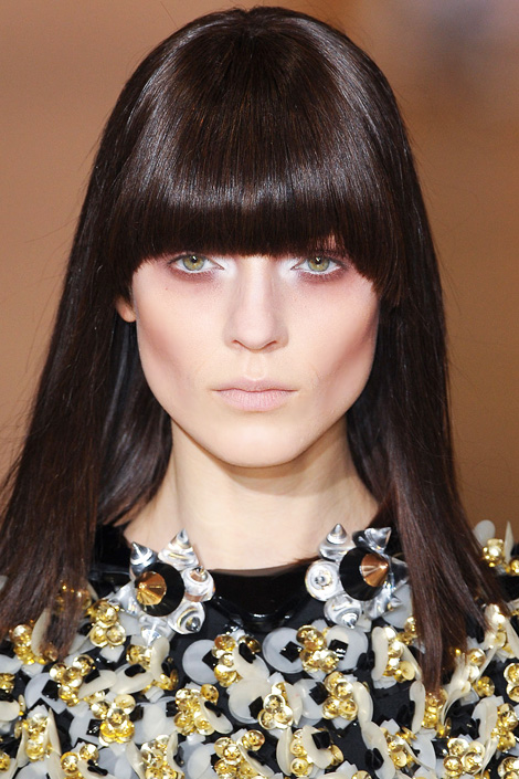 Fall Hairstyles 2012 – Blunt Bangs | Fashionandbeautyscene's Blog